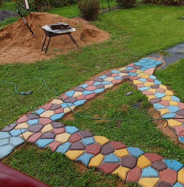 Изготовление тротуарной плитки в домашних условиях своими руками