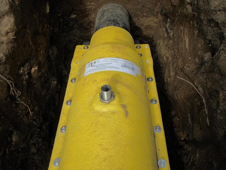 Контрольная трубка на газопроводе места установки