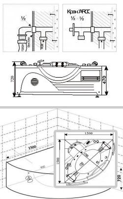 Подключение гидромассажной ванны к электричеству
