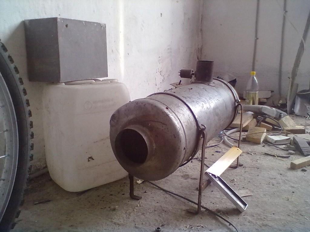 Газовая пушка в гараж своими руками