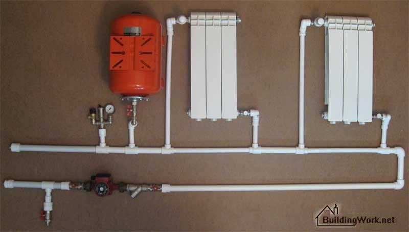 Монтаж полипропиленовых труб отопления