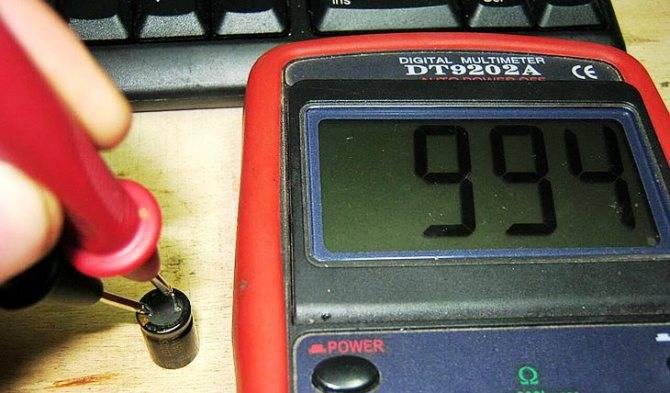 Виды конденсаторов и проверка мультиметром на исправность