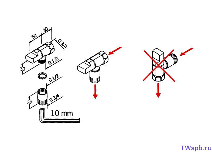 Кран для стиральной машины: обзор видов, правила выбора и монтаж