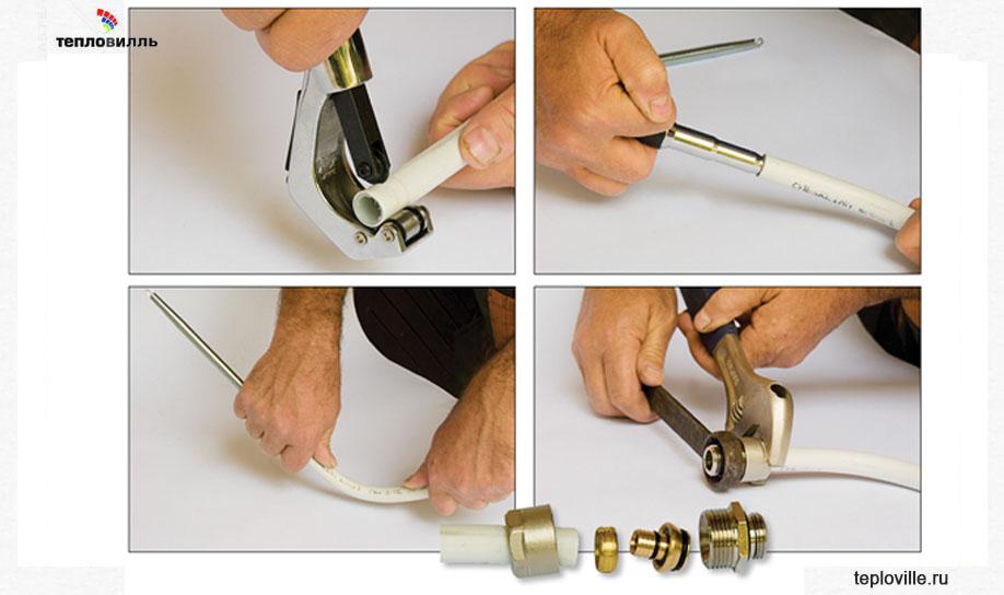 Монтаж металлопластиковых труб для водопровода своими руками: видео уроки как произвести соединение металлопластиковых труб