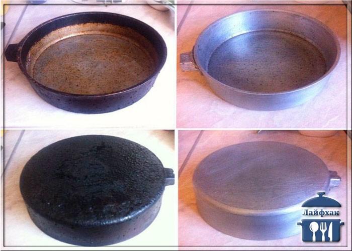 Чугунная сковорода: очистить от многолетнего нагара и ржавчины