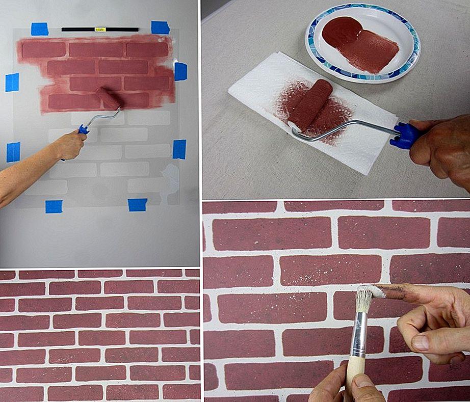 Имитация кирпичной стены своими руками: пошаговая инструкция