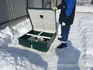 """Как производится обслуживание септика """"топас"""" зимой"""