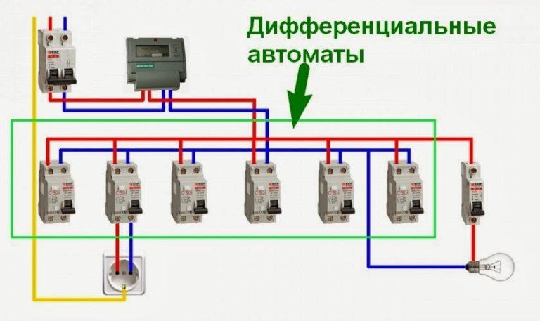 Схема подключения и правила монтажа дифавтомата в однофазной сети - нюансы, особенности и секреты экспертов (160 фото)