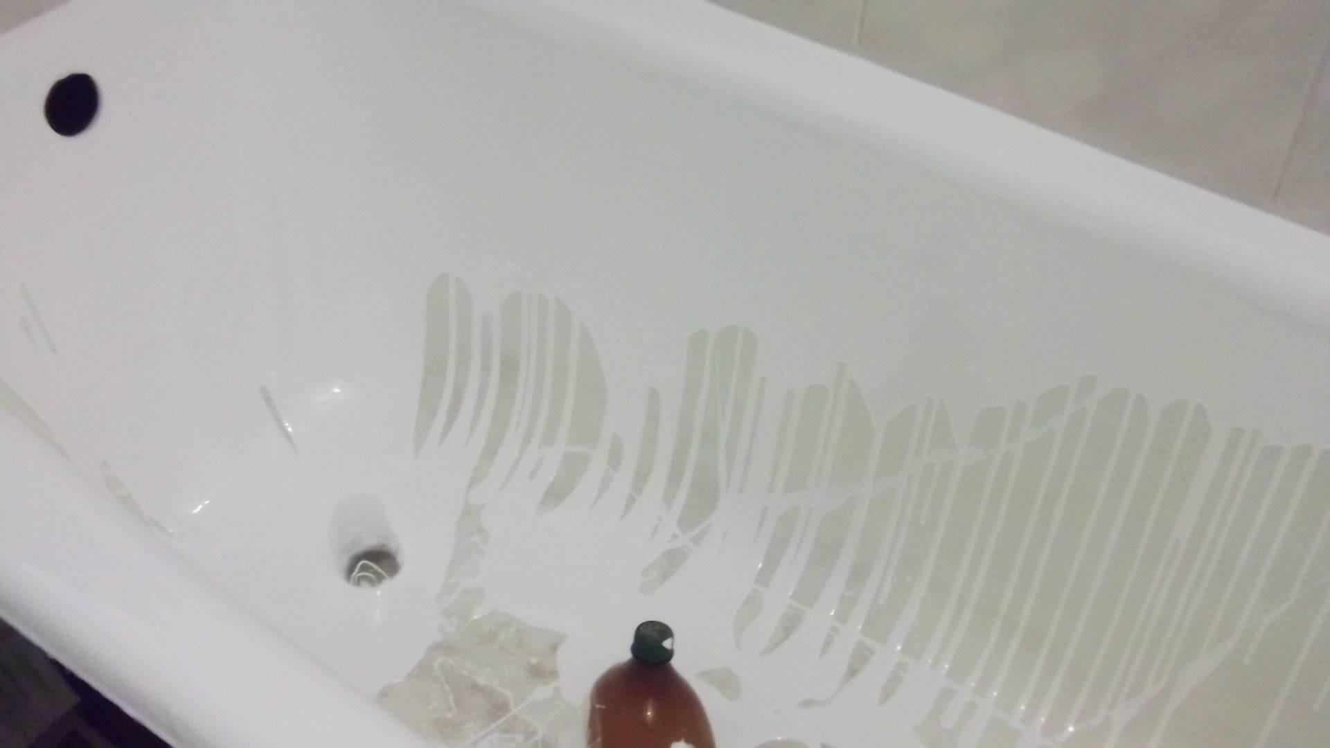 Реставрация ванн наливным акрилом, вкладышом или эмалью, цены в спб и москве, отзывы