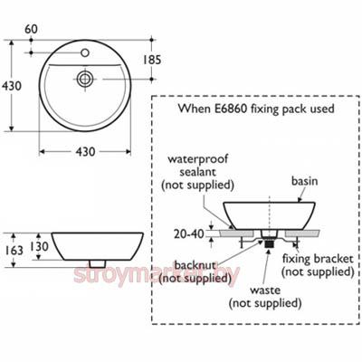 Как установить раковину на столешницу в ванной