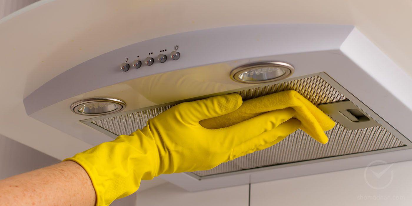 """Как очистить и отмыть вытяжку(решетку, фильтр, сетку) над кухонной плитой от жира - народные средства и эффективные советы на портале """"хозяйке на заметку"""""""