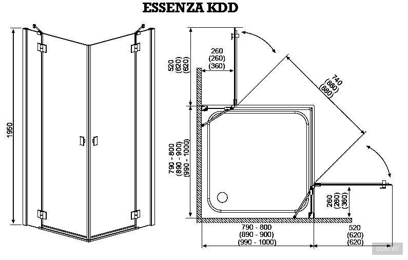 Типовые размеры душевых кабин: стандартные и оптимальные размеры