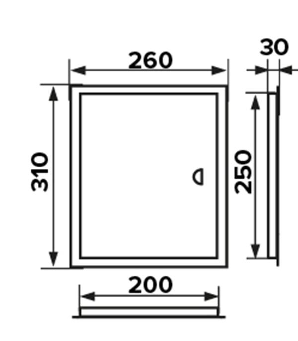 Сантехнические люки для ванной и туалета: размеры