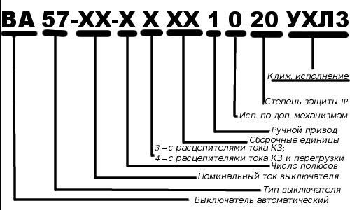 Маркировка автоматических выключателей: специфика буквенно-цифровых обозначений - точка j