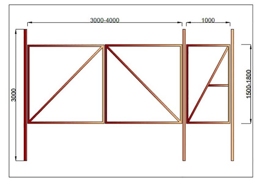 Как сделать распашные ворота своими руками: чертежи, материалы, инструкция по изготовлению и установке :: syl.ru