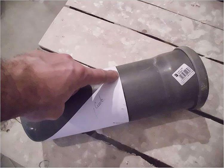 Отрезка трубы диаметром 108 мм под 45 градусов