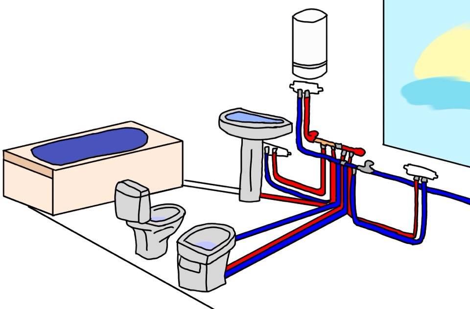 Правильная разводка труб в ванной и туалете: обзор основных ошибок при проектировании