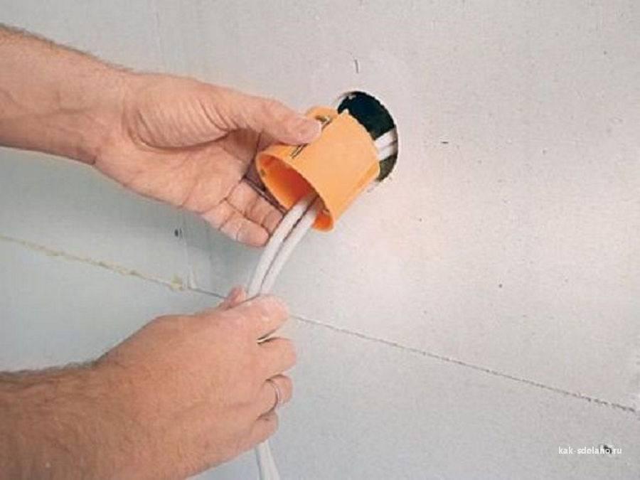 Как установить розетку в стену из бетона, из гипсокартона своими руками – пошаговая инструкция