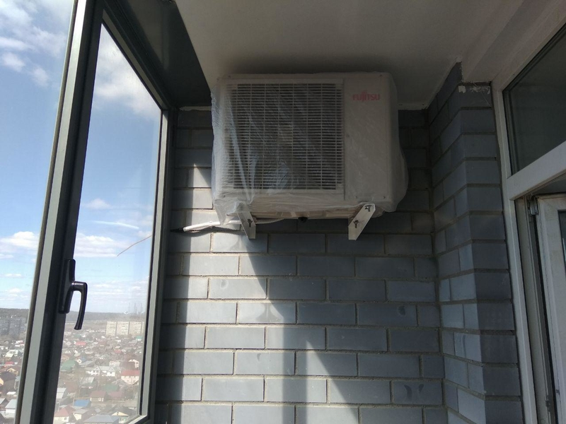 Монтаж и установка кондиционера на балконе и лоджии своими руками, внешний блок кондиционера