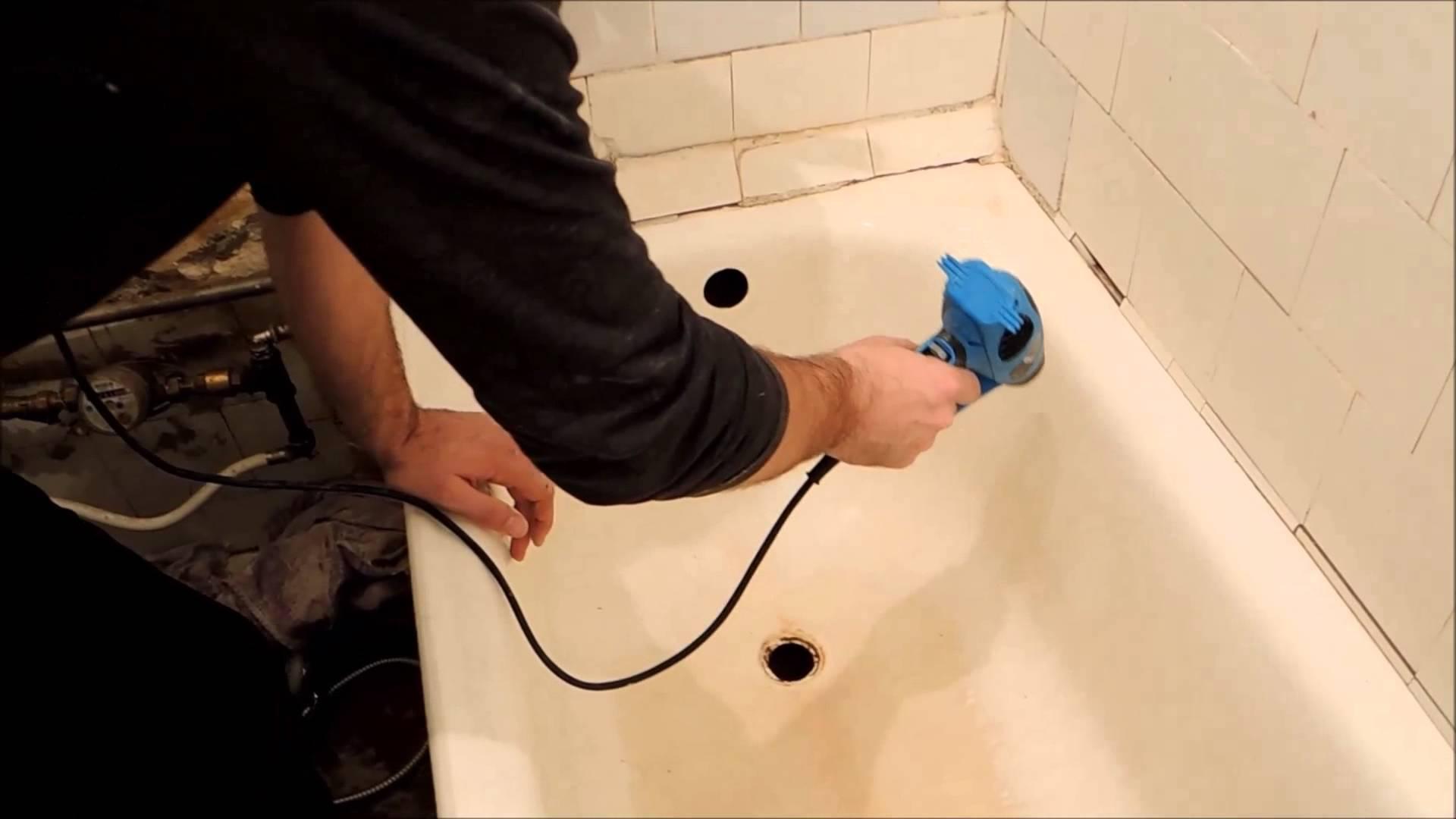Реставрация ванны своими руками жидким акрилом + видео