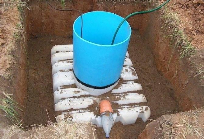 Септик для высокого уровня грунтовых вод