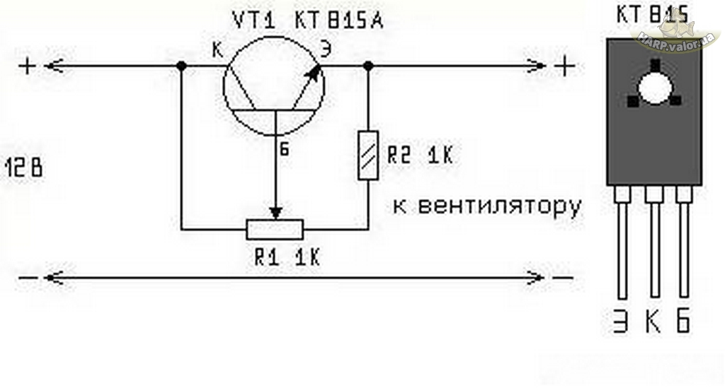 Схема подключения регулятора вентилятора