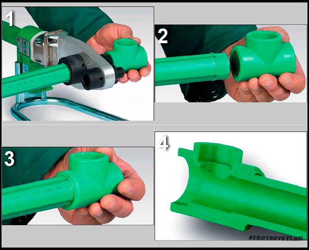 Монтаж труб из сшитого полиэтилена: соединение своими руками