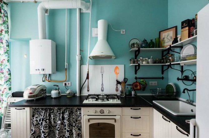 Как спрятать газовую трубу на кухне: разные способы маскировки - точка j