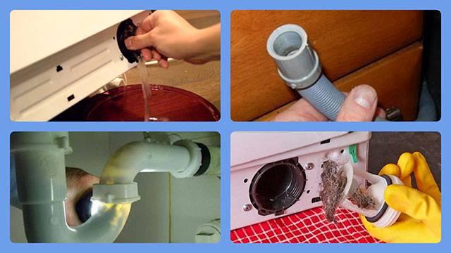 Все способы как слить воду из стиральной машины при поломке