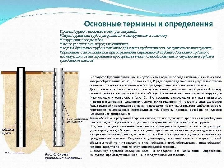 Особенности колонкового бурения скважин
