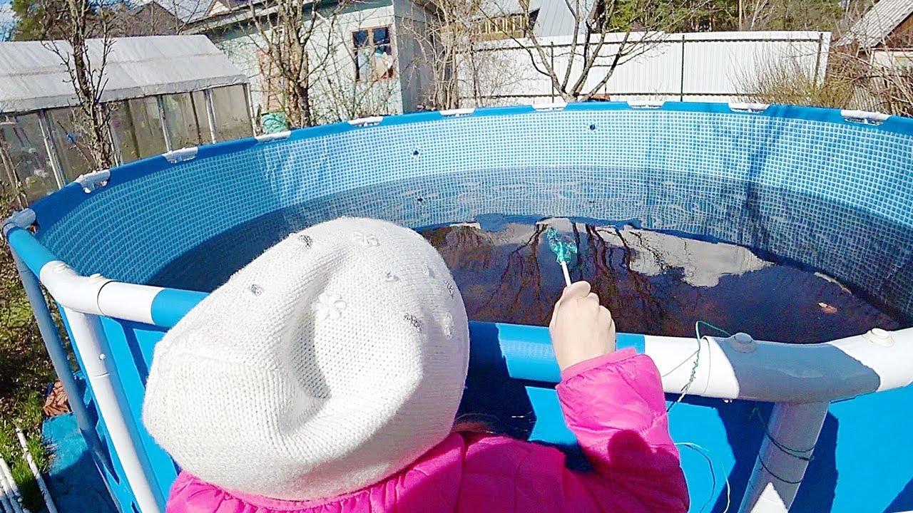 Каркасный бассейн: как хранить зимой, можно ли при минусовой температуре, видео