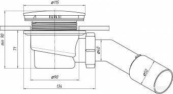 3 вида сифонов — слив для душевой кабины