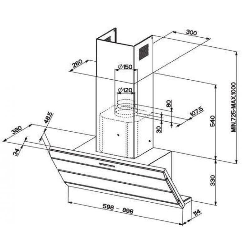 Вытяжки для кухни с отводом в вентиляцию — схемы, правила монтажа
