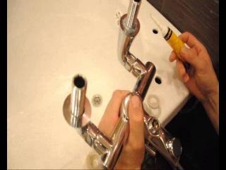 Как установить смеситель на борт ванны с душем: монтаж врезного крана своими руками