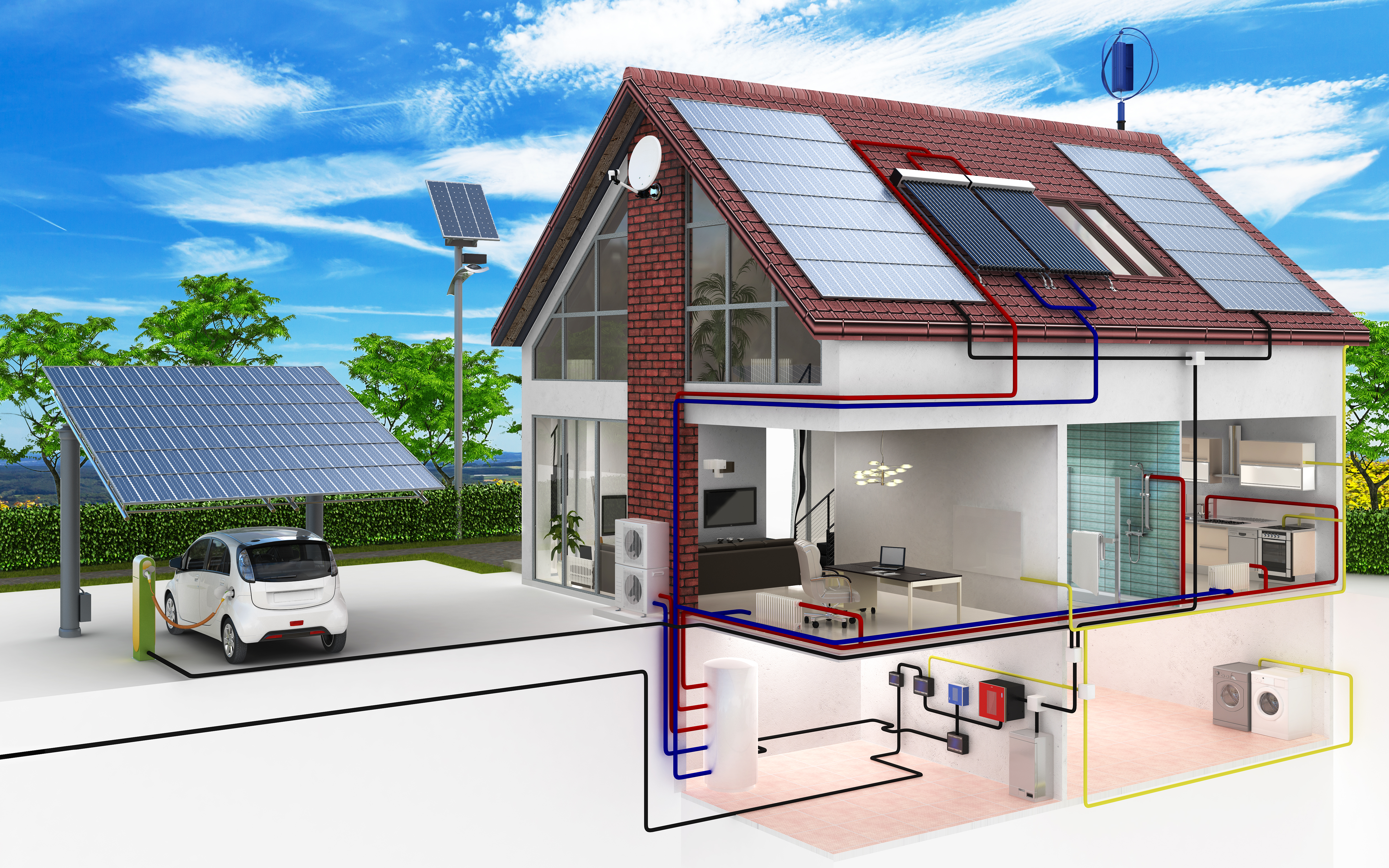 Резервный источник энергии для загородного дома | дом идей