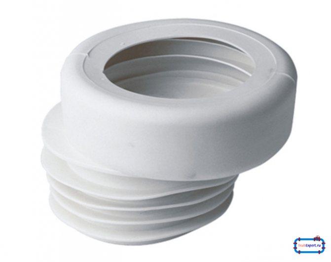 Резиновые уплотнительные манжеты для унитаза: эксцентрик со смещением