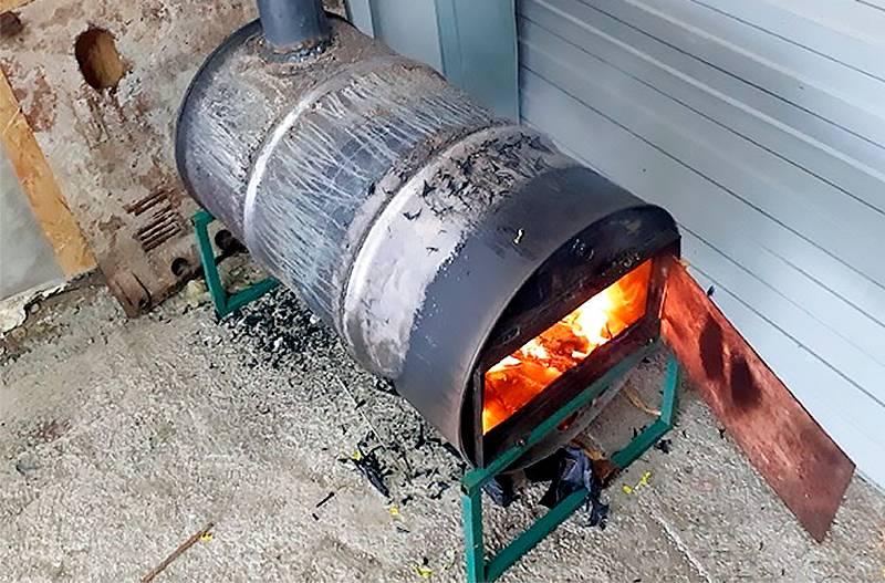 Делаем печь для гаража своими руками: обзор 4-х лучших самодельных конструкций
