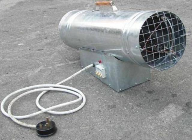 Принцип действия и виды тепловых пушек на отработанном масле - точка j
