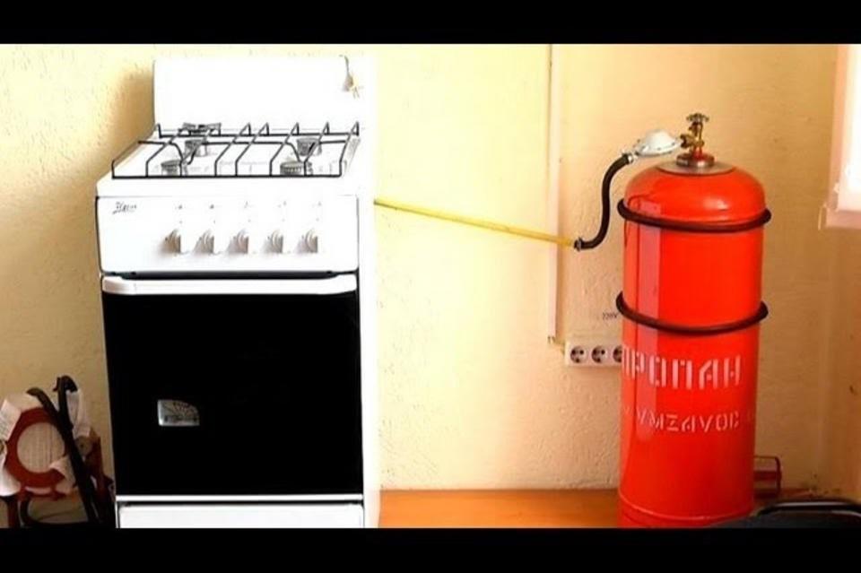 Как подключить газовый баллон к плите