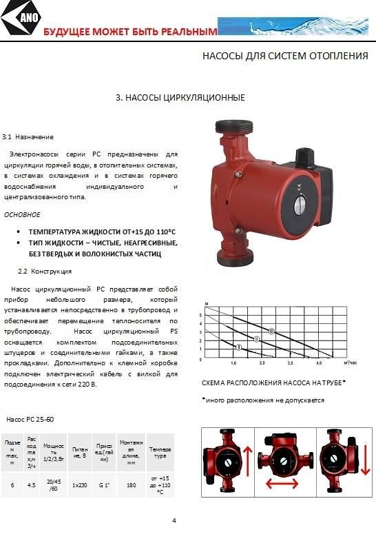 Водяной насос для отопления: виды, характеристики, как выбрать