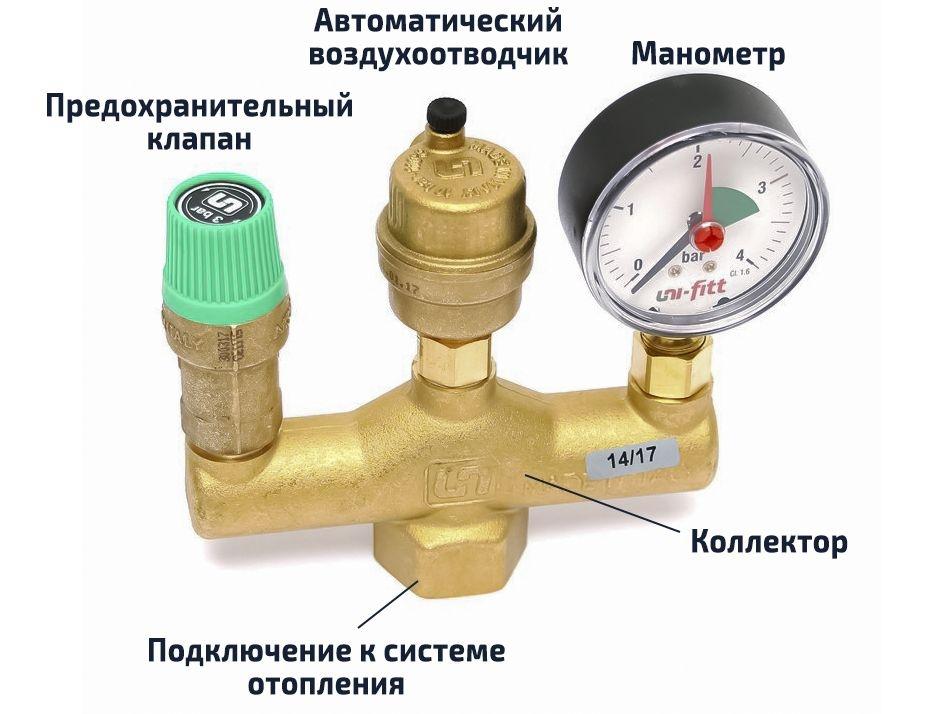 Группа безопасности для отопления: из чего состоит, установка конструкции с расширительным баком в закрытую систему своими руками