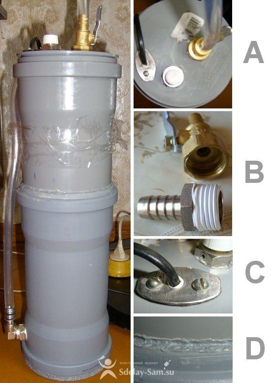 Самодельные фильтры для воды: пошаговое описание процесса изготовления