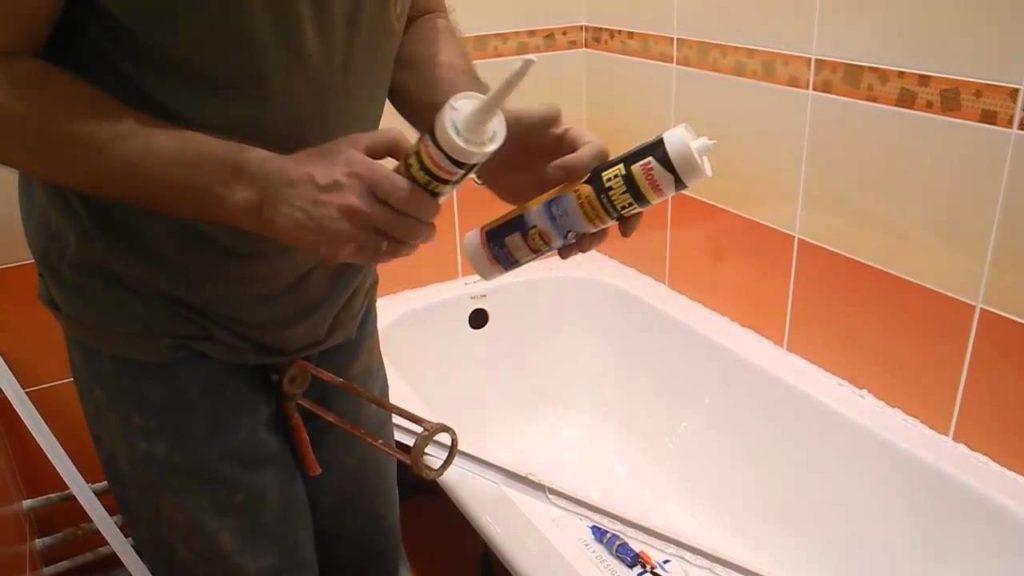 Как приклеить керамический бордюр на ванну