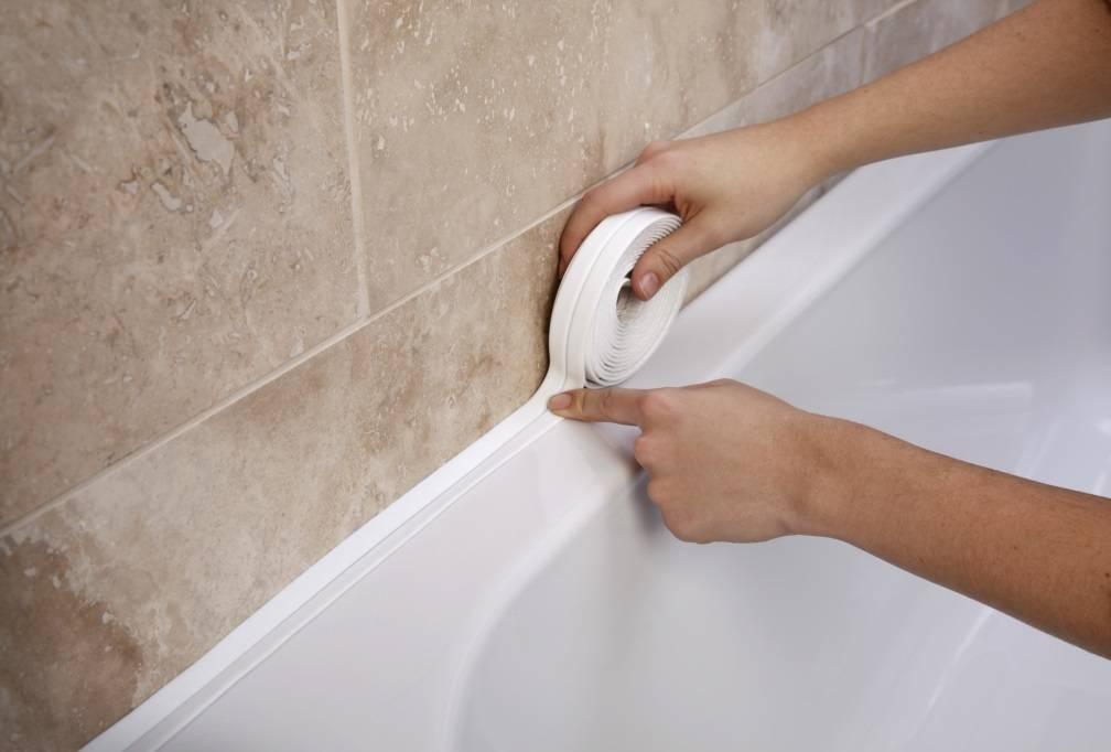 Как приклеить керамический бордюр на ванну - устранение щели между стеной и ванной