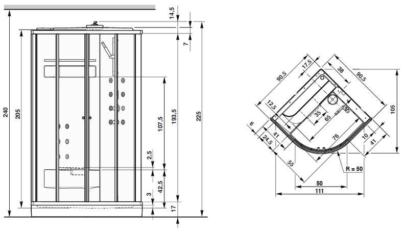 Размеры душевой кабины: душ угловой, высота и габариты, стандарт для маленьких и больших, минимальный и оптимальный душевая кабина: размеры и параметры – дизайн интерьера и ремонт квартиры своими руками