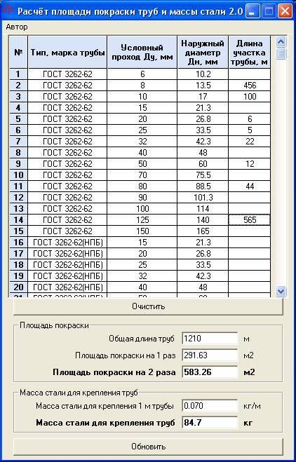 Как сделать расчёт объёма трубы