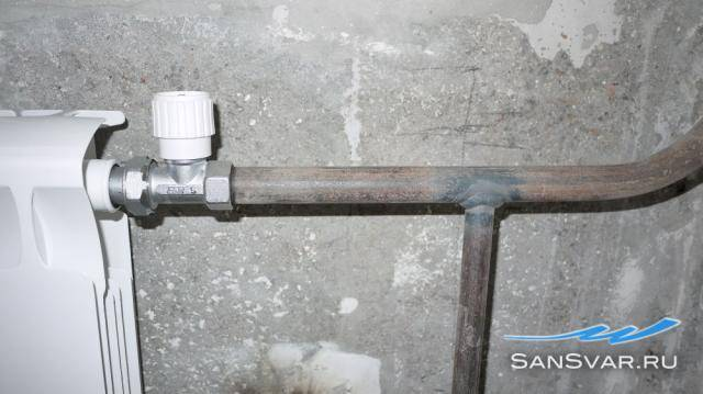 Замены батарей отопления методом газосварки - точка j