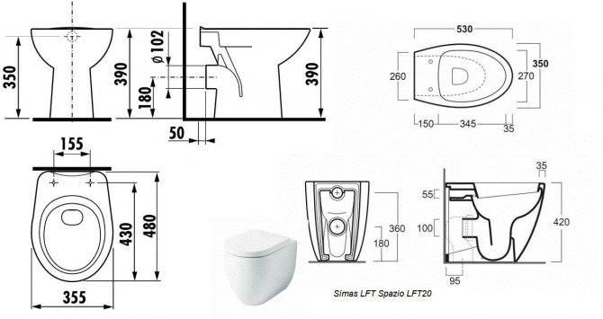 Размеры туалета: стандартные и минимальные размеры туалетной комнаты в квартире по госту. нормы ширины и высоты. размеры раздельных и совмещенных санузлов