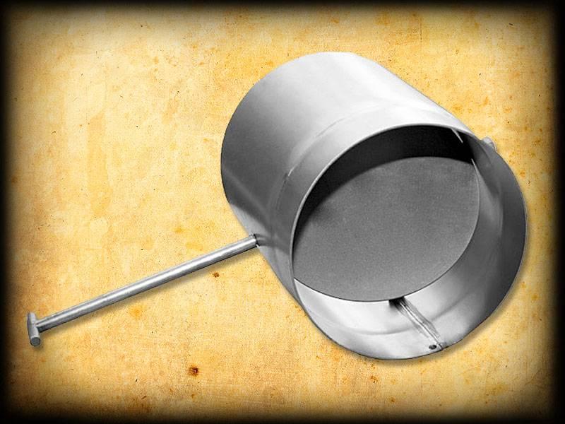 Шибер для дымохода: виды, устройство и установка