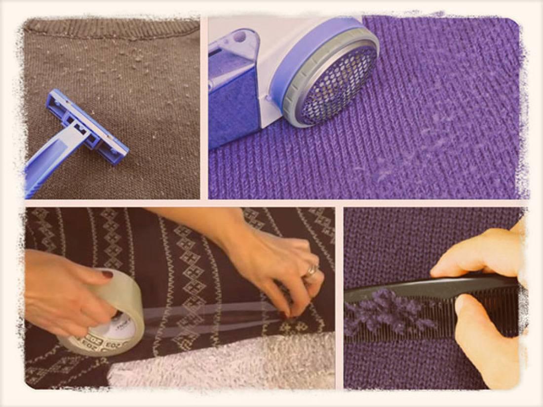 Как убрать катышки с шерстяной кофты — 11 лайфхаков
